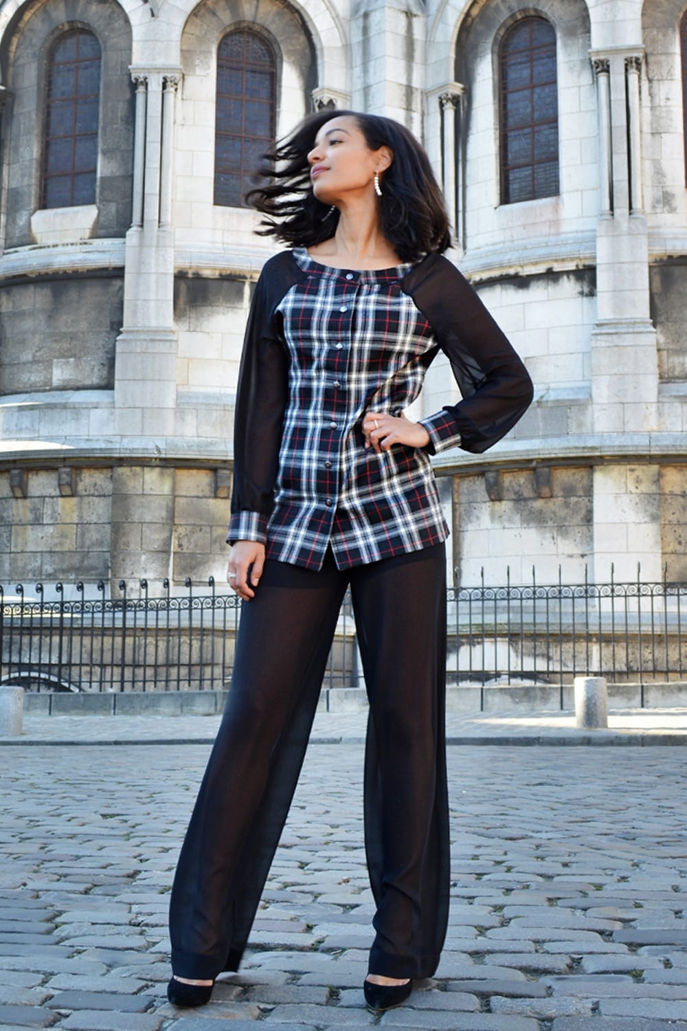 Fashion Paris. Chic and stytlish outfits by Erik Schaix fashion designer Paris.