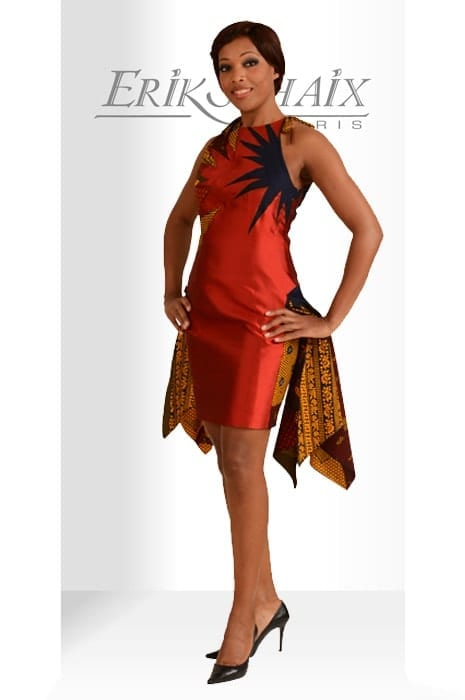 robe pagne rouge erik schaix paris