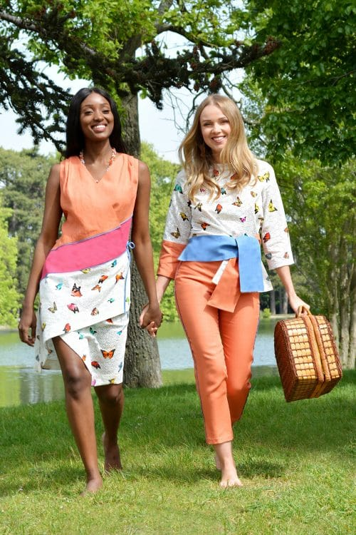 Ready-to-wear spring summer collection by the French fashion designer Erik Schaix. Colorful and Wonderfull collection for elegant women.