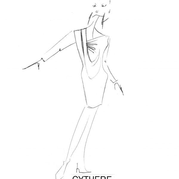 croquis dessin collection automne-hiver 2020. Erik Schaix Couturier Designer Paris.