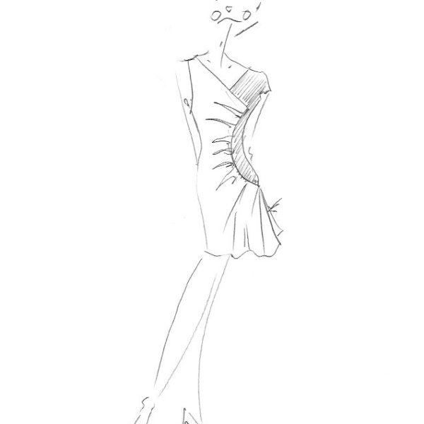Robe en dentelle noire asymétrique. Découvrez notre collection de robes en dentelles, réalisées à l'unité dans notre atelier de mode à Paris.
