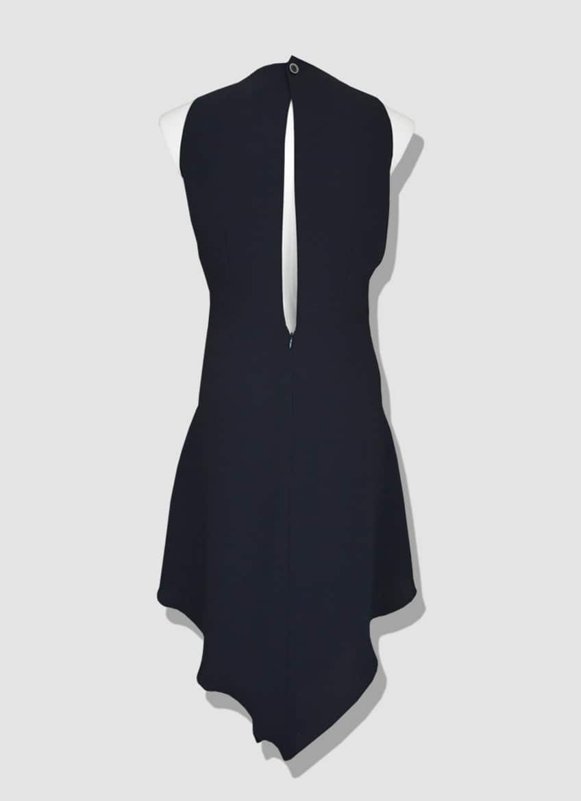 Plus size evening dress (size 36 to 54) in draped crepe with lace plastron. Collection made by the Parisian couturier Erik Schaix.
