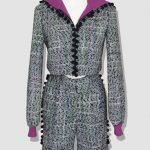Short en tweed femme. Erik Schaix vous invite à découvrir sa collection prêt-à-porter hiver. Des pièces modernes et élégantes réalisées à Paris.