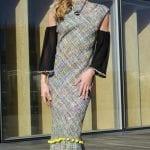Robe longue tweed et son dos nu plongeant. Découvrez notre Collection mode Hiver, des pièces élégantes et raffinées réalisées dans notre atelier à Paris.