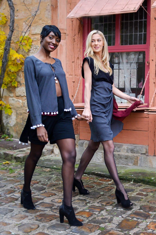 Collection prêt-à-porter femme hiver réalisée par le stylist parisien Erik Schaix. Mode parisienne.