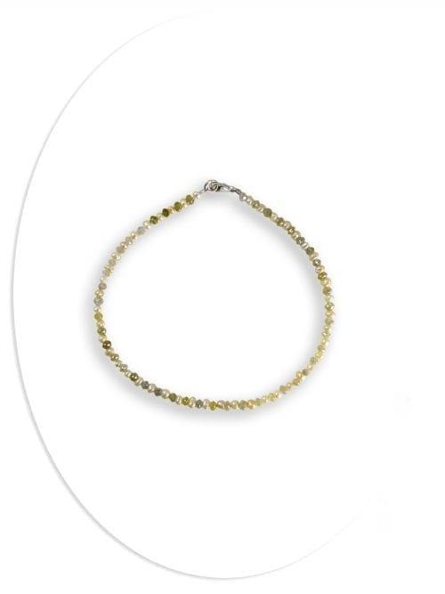Yellow diamond . Pearl